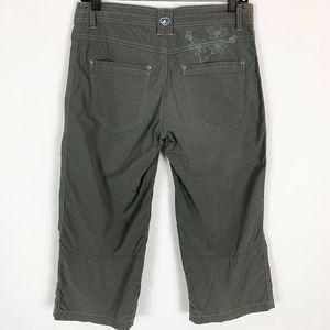 Kuhl Kendra Capri Pants Women's Size 4 Floral Embr
